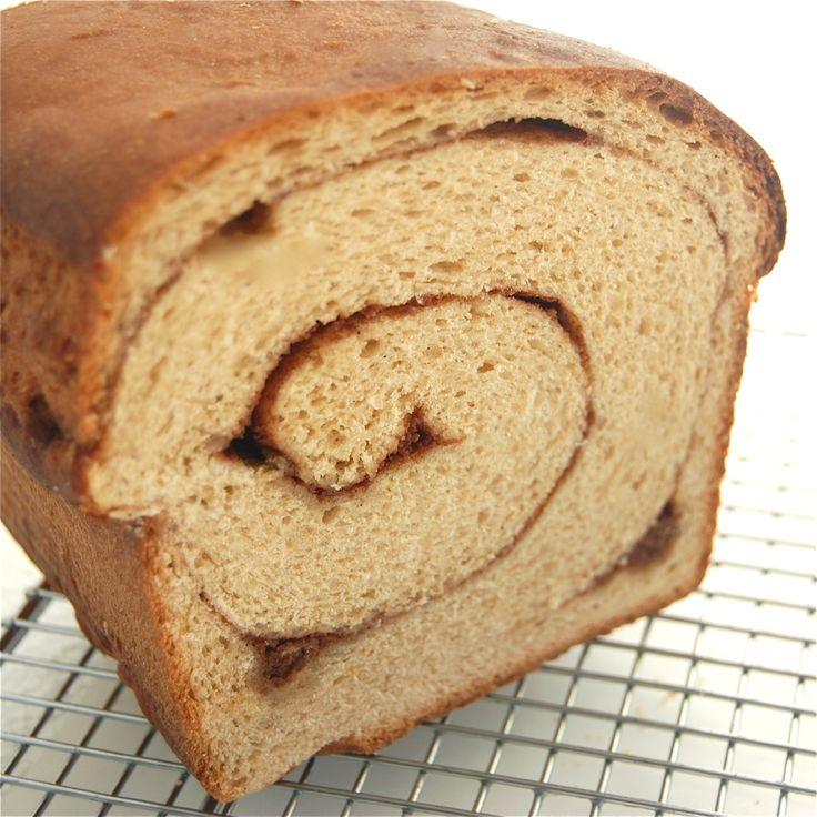 100% whole wheat cinnamon swirl bread | Recipes, Whole Grain Sweets ...