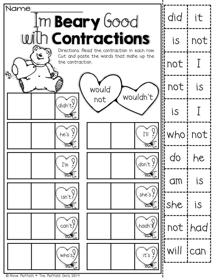 Second Grade Contraction Worksheet : Search Results ...