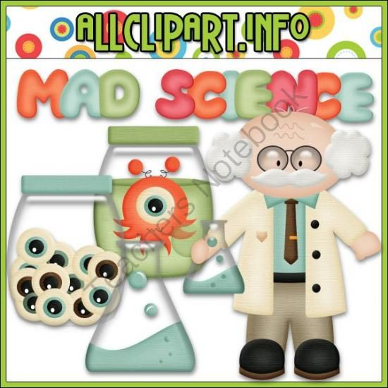 ) - Mad Scientist Clip Art & Digital Stamp Bundle - 5 piece clip art ...
