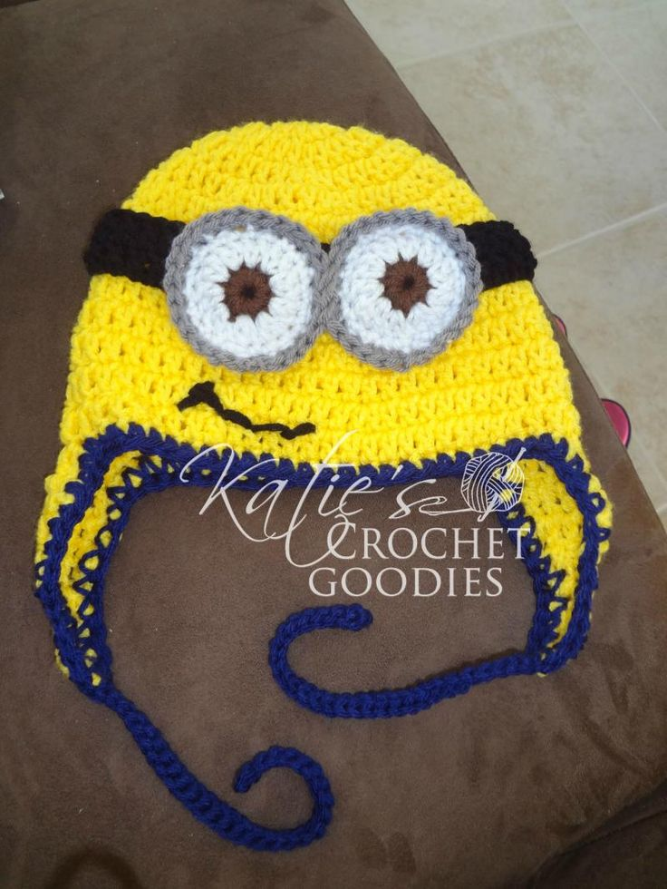 Newborn Despicable Me Minion Hat free Crochet Baby~Kids ...