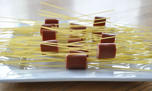 Noodle Weenies (my kids call them Hairy Hotdogs) - These were easy and ...