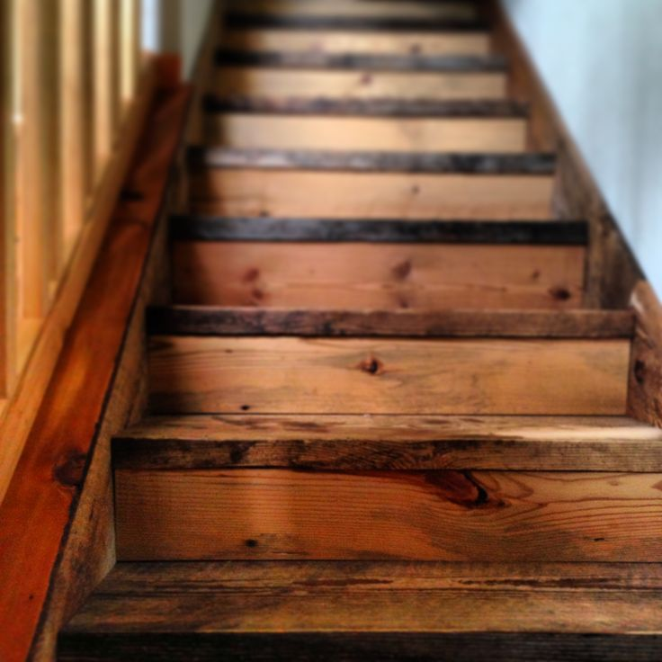 Reclaimed Barn Wood Stairs For The Home Pinterest