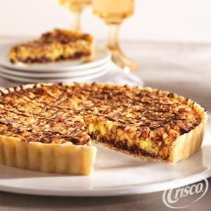 Chocolate Chip and Nut Tart from Crisco®