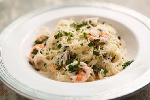 Angel Hair Pasta with Shrimp and Lemon Cream Sauce Recipe #Great Food ...