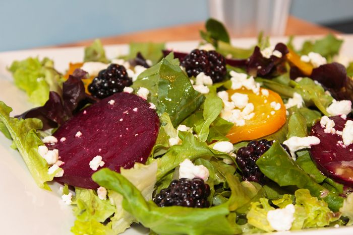 Roasted Beet, Blackberry and Goat Cheese Salad with Orange Champagne ...