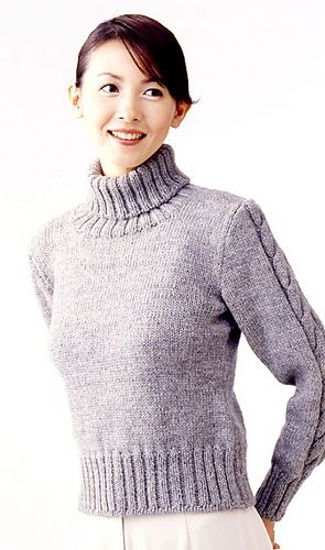 Knitting Patterns For Turtleneck Sweater : Turtleneck Sweater - free pattern Knitting and crochet Pinterest