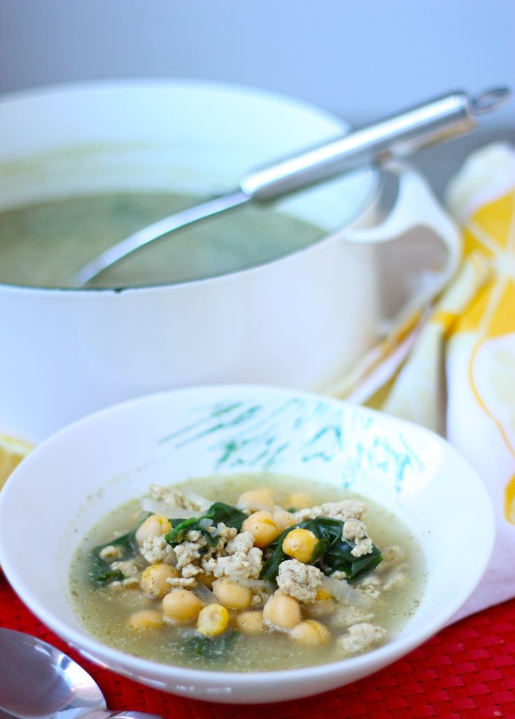 Zahatar Ground Turkey and Chickpea Soup with Spinach | and other Zatar ...
