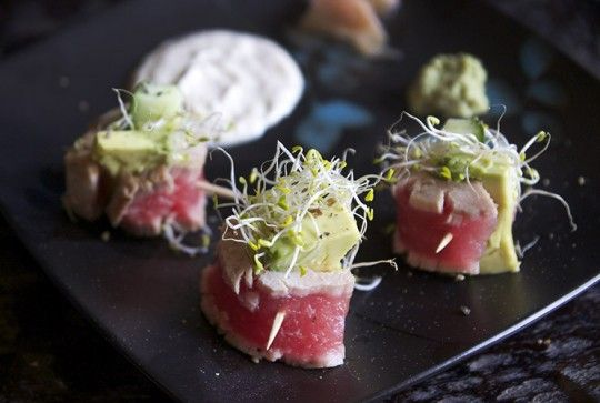 Low-Carb Seared Tuna Tataki Rolls with Creamy Ginger Sauce | Three Hot ...