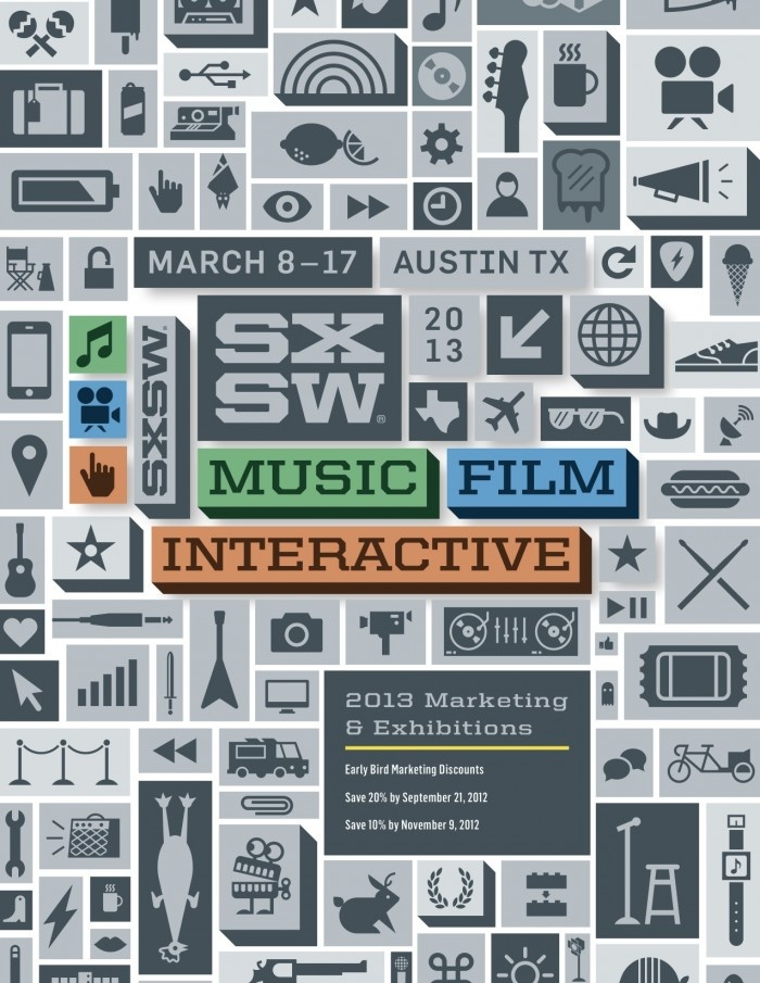 SXSW 2013 Marketing Brochure #icons @Oscar Morris