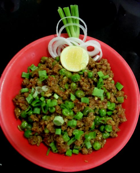 Lamb Kheema Mutter (Ground Spiced Lamb with Peas) -- another favorite ...