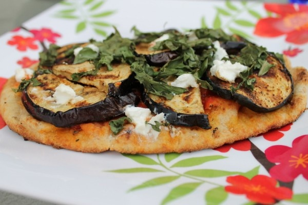 Grilled Sausage And Eggplant Parmigiano Pizza Recipe — Dishmaps