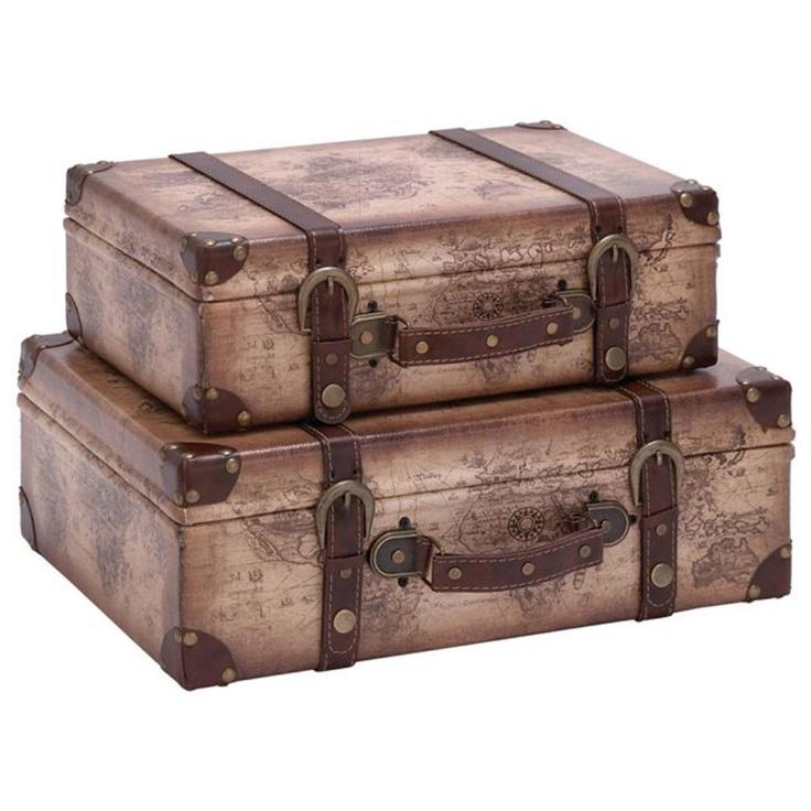 2-Piece Decorative Suitcase Set