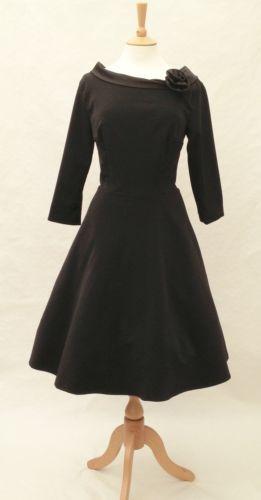 Robe Années 50 60 Vintage Hepburn Rockabilly Fête Déguisement Rose ...