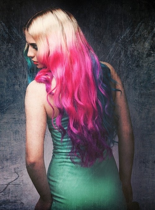 multicolored ombre hair styles cuts amp color pinterest