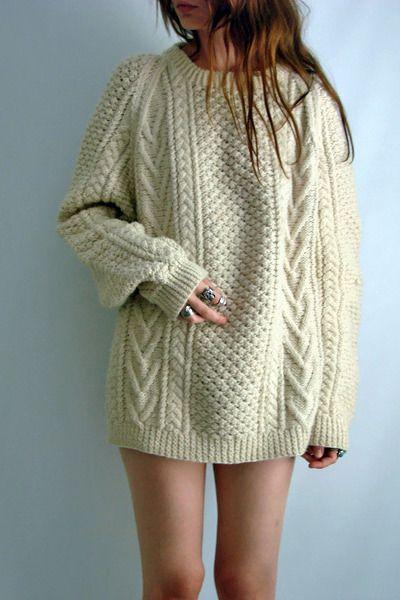 Knitting Patterns Irish Fisherman Sweaters : vintage Irish fisherman sweater Dream closet Pinterest