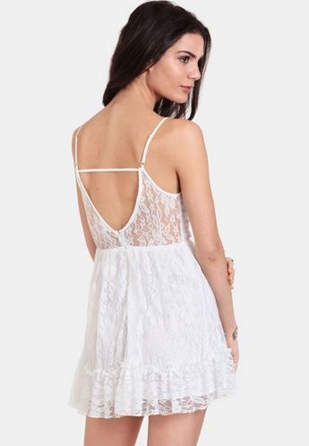 White Noise Lace Dress - StudentRate