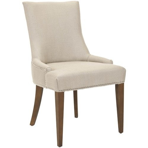 Safavieh Alexia Fabric Dining Chair with Nickle Nail Head