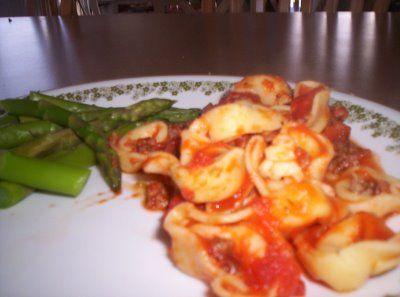 Slow Cooking: Cheesy Italian Tortellini | Food | Pinterest