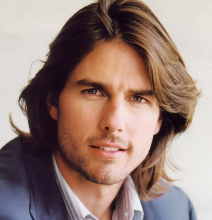 transition hairstyles from relaxed to natural for short hair : Tom Cruise Long Hairstyle Celebrities Pinterest