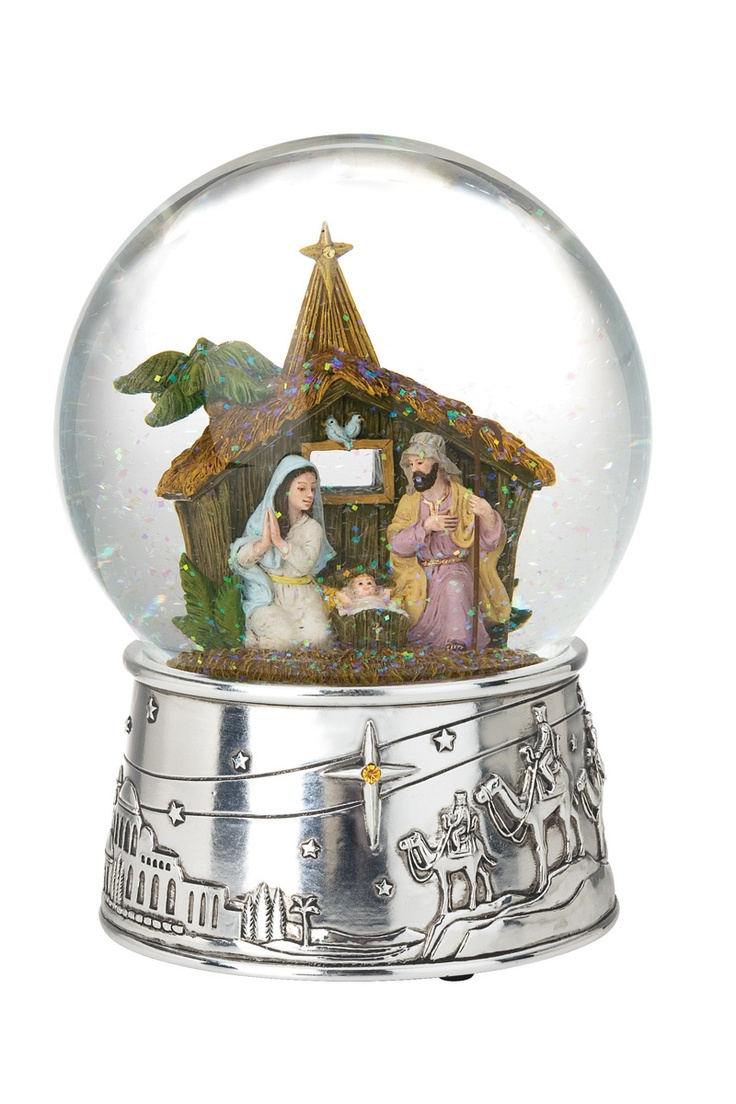 Reed & Barton Musical Snow globes Away in a Manger Snow Globe