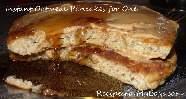 Instant Oatmeal pancakes for One (using a pkg of instant oatmeal any ...