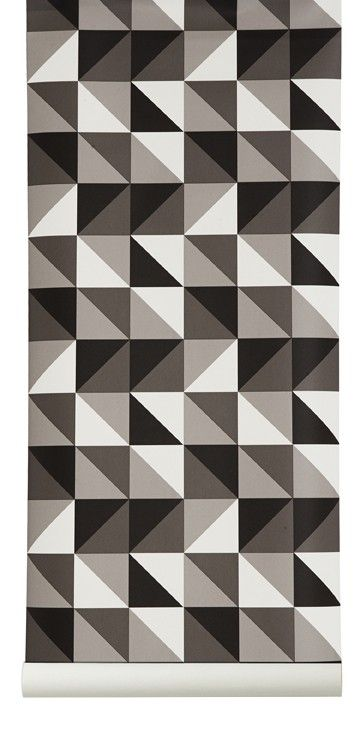 Remix - Grey (ferm living wall paper)