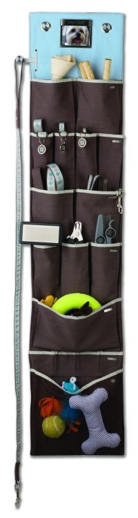YepYup hanging pet organizer. You can put a photo of your pet at the top! From my 2011 picks on my Good Housekeeping blog: http://www.goodhousekeeping.com/home/design/top-new-holiday-gift-ideas
