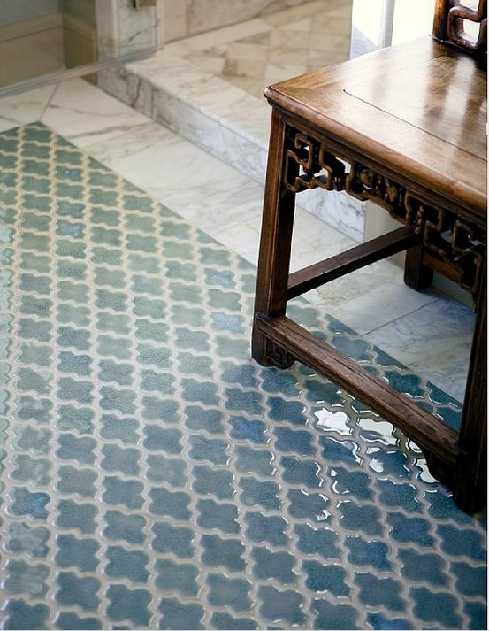 Moroccan Tile Pattern Bathrooms Pinterest