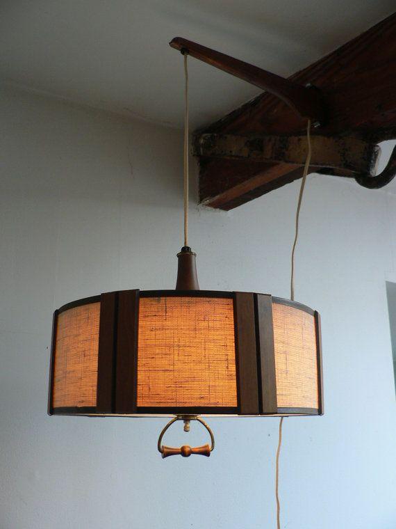 Danish modern hanging light fixture mid century wall mount for Danish modern light fixtures