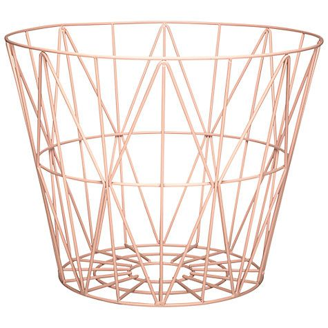ferm living wire storage basket. Black Bedroom Furniture Sets. Home Design Ideas