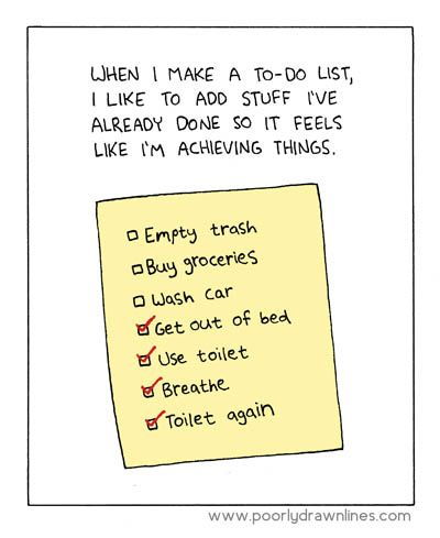 "me too! such as ""make to do list"""