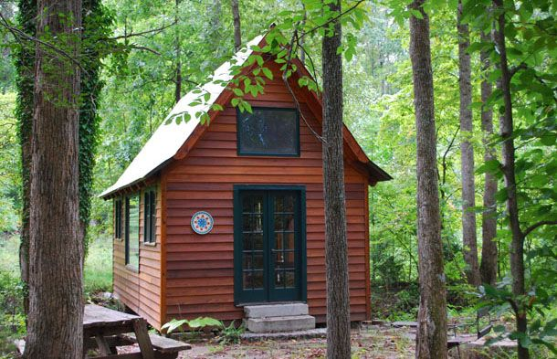 Small timberframe cabin cabins rustic design pinterest for Small timber frame cottage