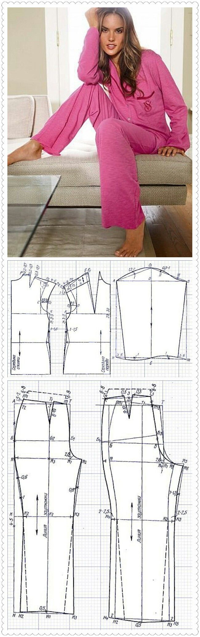 Выкройка пижамных штанов для мальчика, девочки