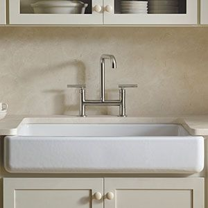 kitchen sink but not just any sink this is kohler s whitehaven sink