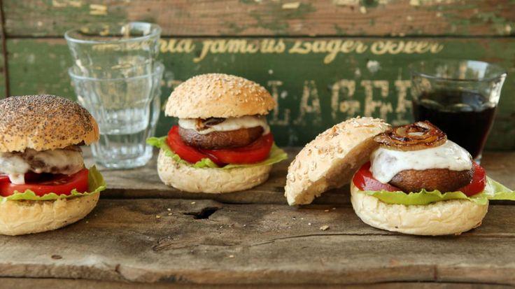 Portobello burgers   VTM Koken   vegetarisch   Pinterest