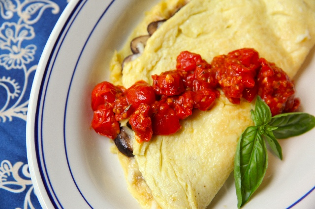 "Mushroom and Fontina Omelet | ""I am going to eat you"" 