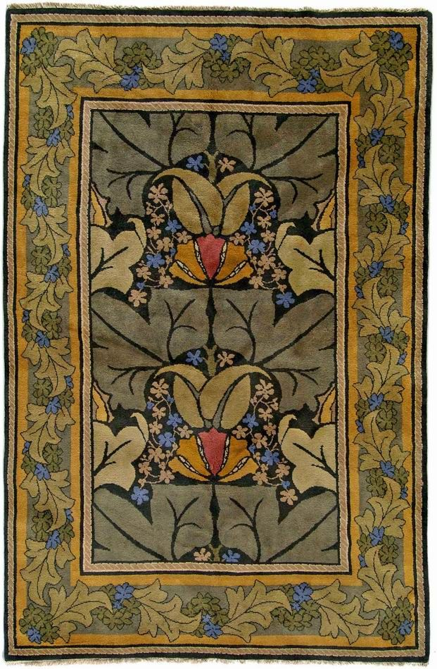 Wykehamis arts craft rug home pinterest for Arts and crafts style rug