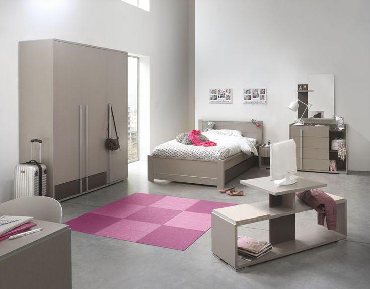 tienerkamer tactil van het merk gautier strakke moderne kamer in chocolade melamine met