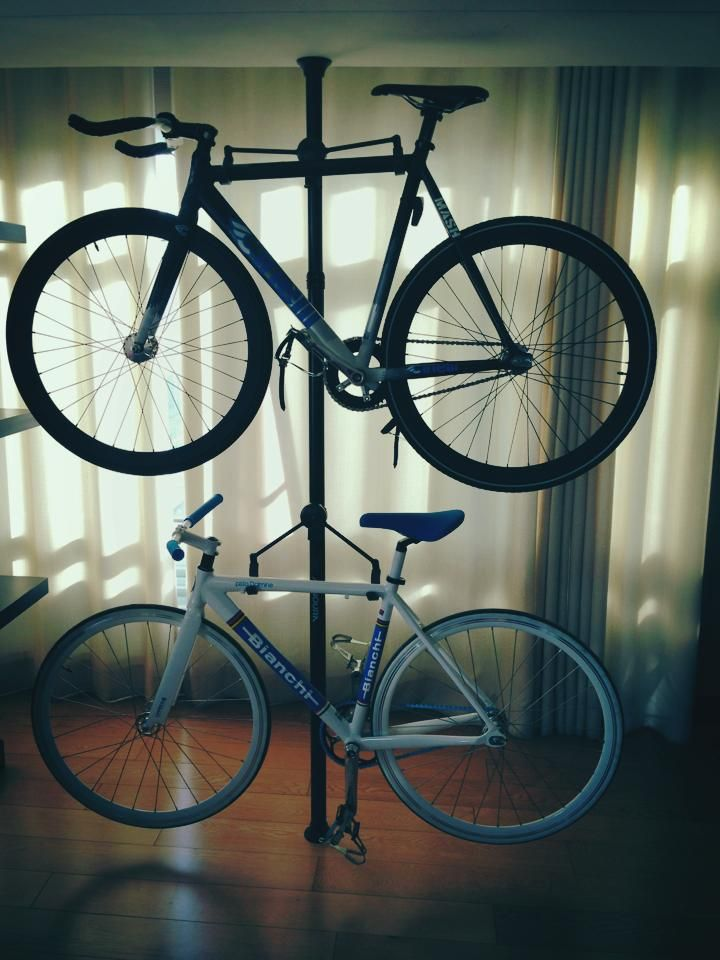 Space saver bike rack ride or die pinterest - Bike storage for small spaces image ...