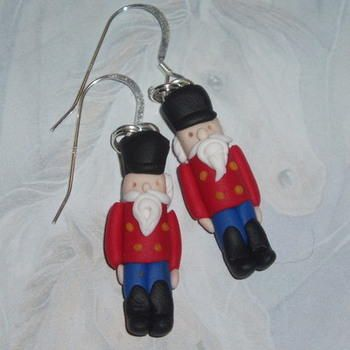 Nutcracker Earrings Christmas Soldier Red Coat Black Hat Blue Trousers.  http://www.judesjewels.co.uk/ourshop/prod_1750727-Nutcracker-Earrings-Christmas-Soldier-Red-Coat-Black-Hat-Blue-Trousres.html
