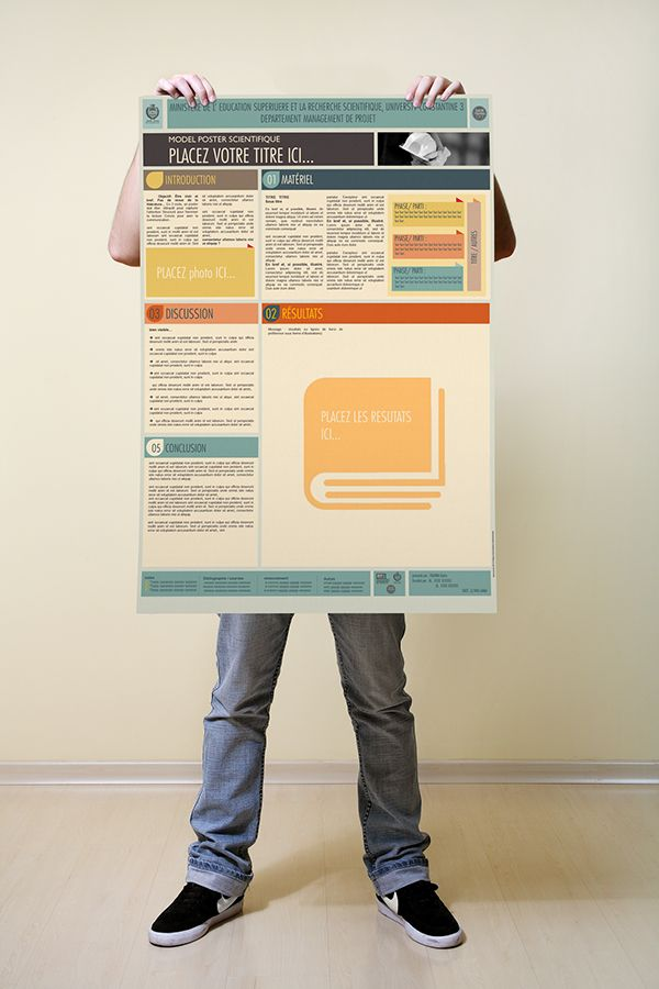 Creative scientific poster template