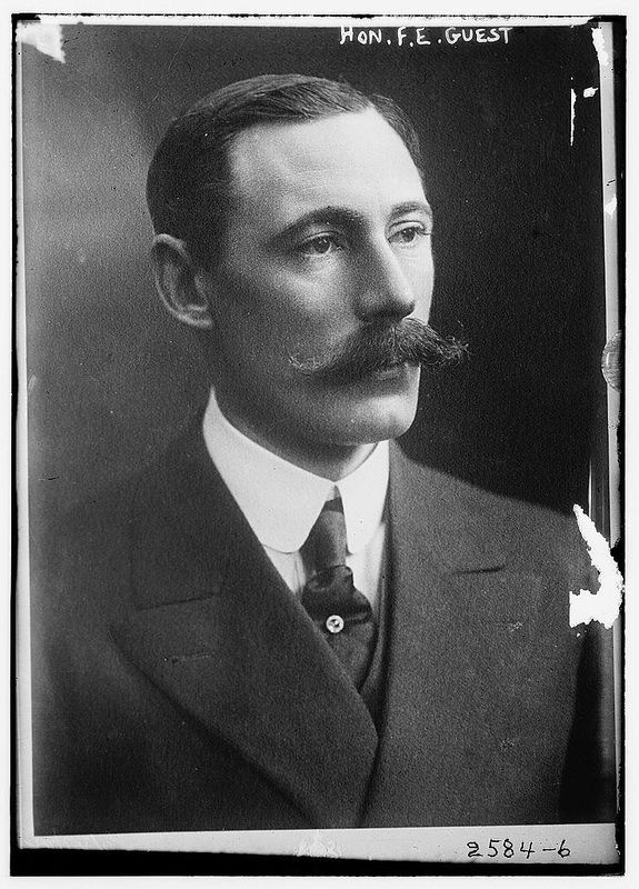 Stylish facial hair from the early 1900 s