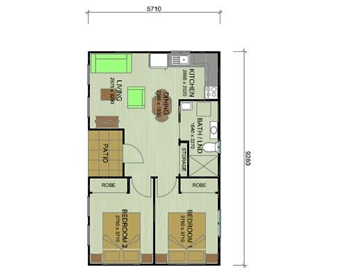 Guest House 2 Bedroom Simple Layout Guest House Pinterest