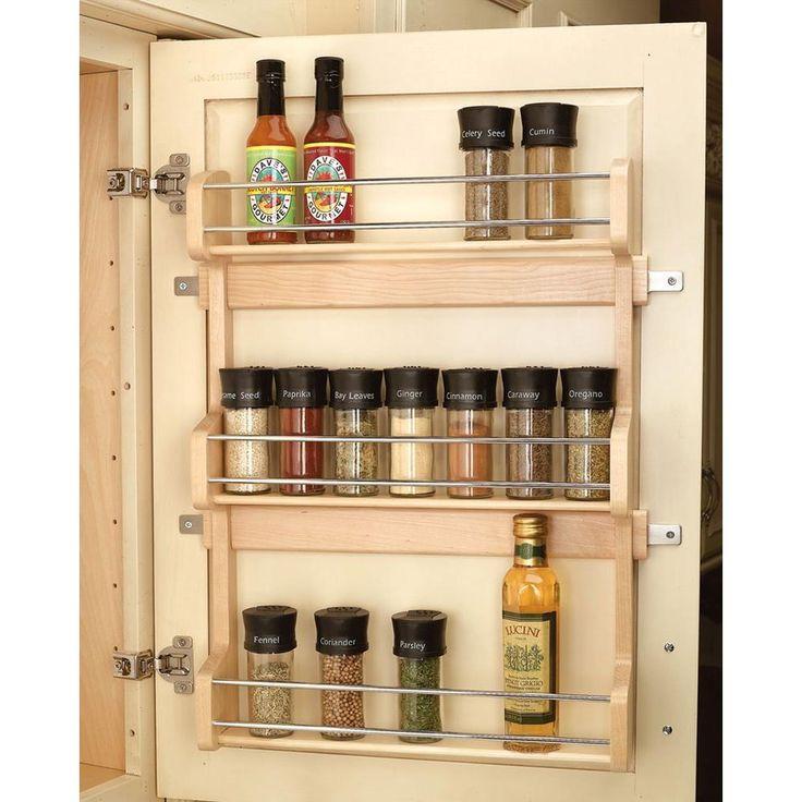 rev a shelf large door mount spice rack 4sr 21. Black Bedroom Furniture Sets. Home Design Ideas