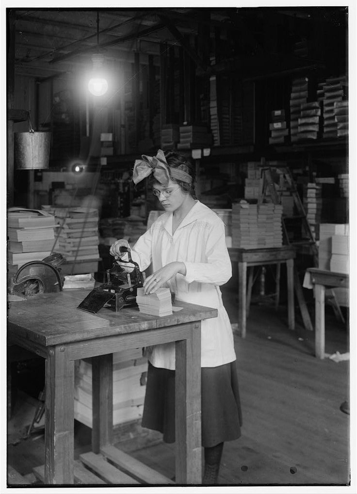 1917 Stamping Labels, Boston Index Card Co. by Lewis Hine
