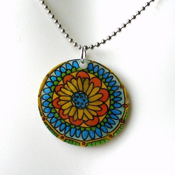 pendant shrinky dink jewelry