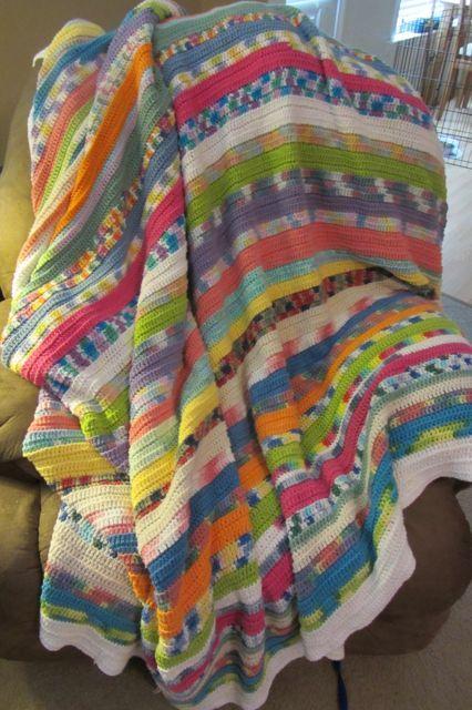 Crochet Patterns For Scrap Yarn Afghan : My Yarn Scrap Afghan!
