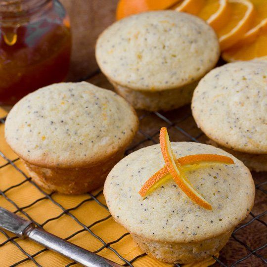 orange poppy seed muffins- yummy and a small amount recipe perfect for ...