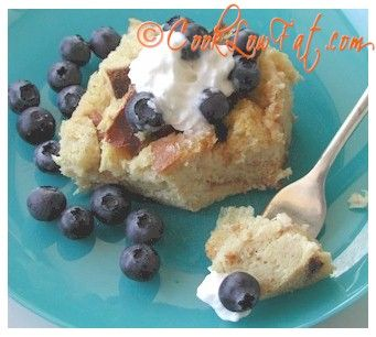 Low Fat Bread Pudding...Yum! Rich and Creamy, Delicious and Low Fat!