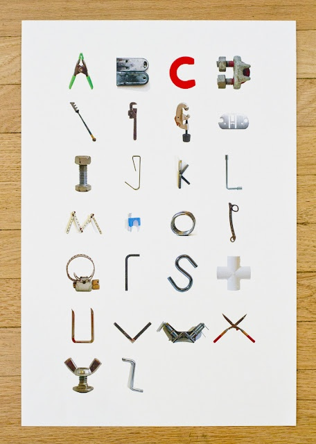 Tool alphabet artwork for boy 39 s room kids pinterest for Gardening tools 7 letters
